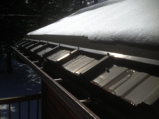 Metal Eave Heated Roof Panel